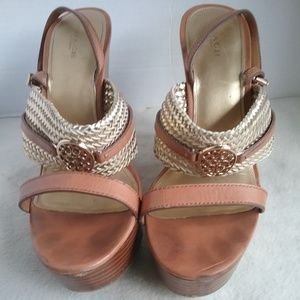 Coach Platform Sling Back Sandals Size 11 B